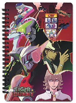 Tiger & Bunny Notebook - Tiger, Bunny, and Blue Rose