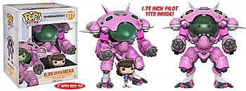 """Overwatch 6"""" POP! Vinyl Figure - 1.75 Inch D.Va & Meka 6 Inch Buddy"""