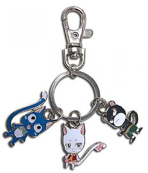 Fairy Tail Key Chain - Happy, Carla & Pantherlily Exceed Metal