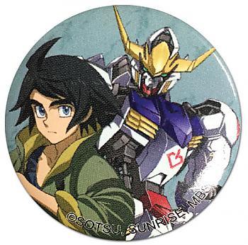 Gundam Iron Blooded Orphans 1.25'' Button - Mikazuki & Gundam