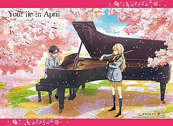 Your Lie in April Wall Scroll - Cherry Blossom Playing Music [LONG]