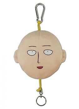 One-Punch Man Plush Key Chain - Saitama Face