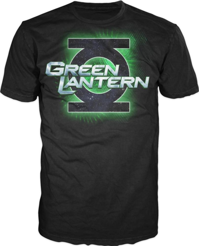 green lantern movie t shirt movie logo black l. Black Bedroom Furniture Sets. Home Design Ideas