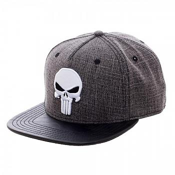 Punisher Cap - Skull Heather PU Snapback