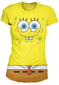 SpongeBob SquarePants T-Shirt - SpongeBob Face (Junior XL)