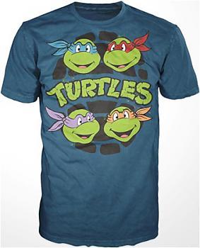 Teenage Mutant Ninja Turtles T-Shirt - Turtle Heads (XL)