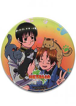 Hetalia World Series 3'' Button - Play with Cats
