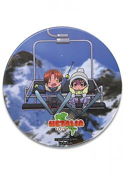 Hetalia World Series 3'' Button - Snow Boarding