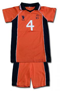 Haikyu!! Costume - Karasuno #4 Uniform (XL)