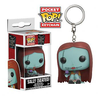 Nightmare Before Christmas Pocket POP! Key Chain - Sally Seated