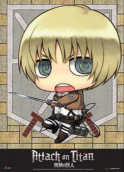 Attack on Titan Fabric Poster - SD Armin