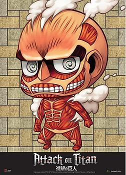Attack on Titan Wall Scroll - SD Colossal Titan