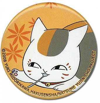 Natsume's Book Of Friends Button - Nyanko Spoon