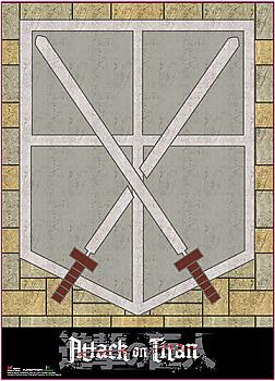 Attack on Titan Wall Scroll - 104th Cadet Corps Crest