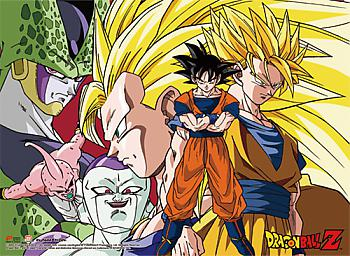 Dragon Ball Z Wall Scroll - Goku Forms & Arch-Enemies [LONG]