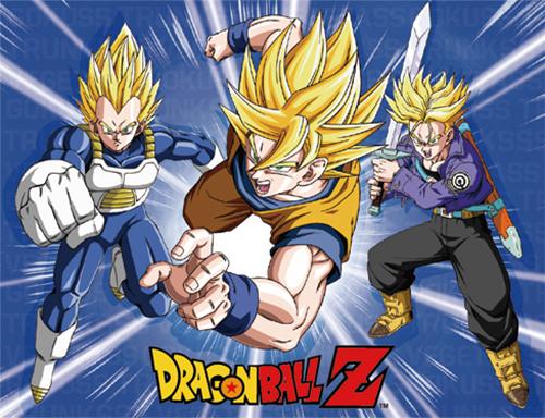Super Saiyan Vegeta, Goku & Trunks