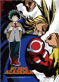 My Hero Academia High End Wall Scroll - Deku & All Might