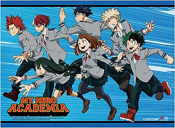 My Hero Academia High End Wall Scroll - Hero Class Rush [LONG]
