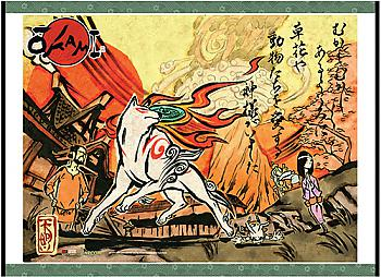 Okami Wall Scroll - Key Art [LONG]