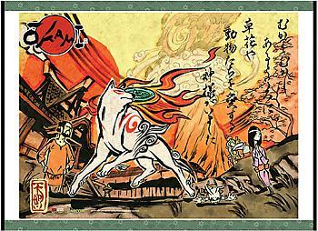 Okami Wall Scroll - Key Art [LONG]