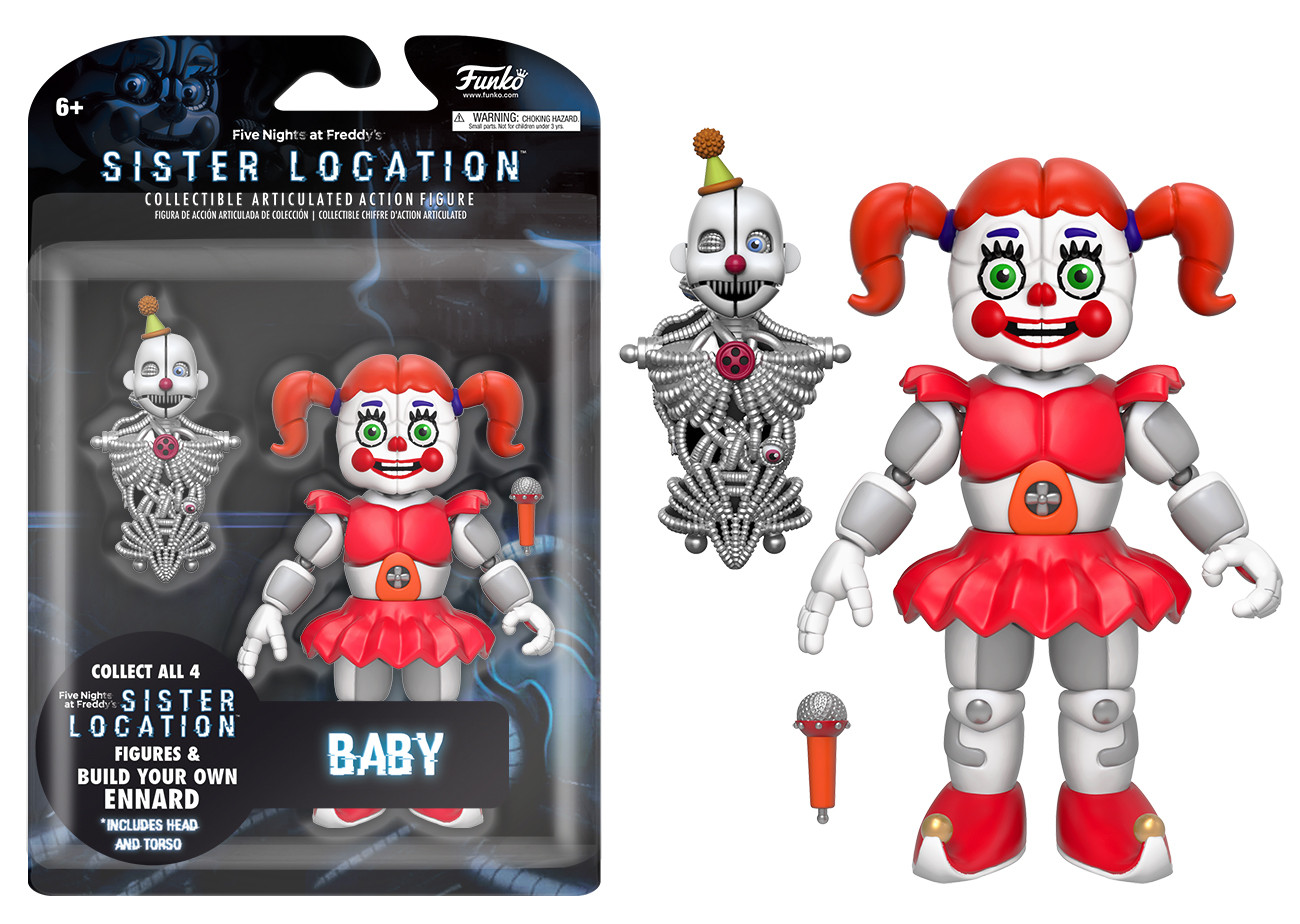 five nights at freddy s action figure baby build a figure