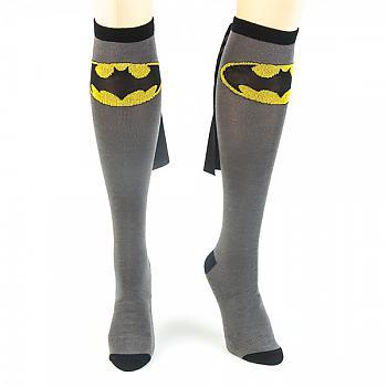 Batman Knee Socks - Gray Caped