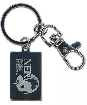 Evangelion Key Chain - Nerv Engraving Metal