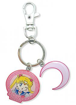 Sailor Moon Key Chain - Moon and Crescent Metal