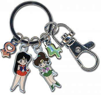 Sailor Moon Key Chain - Sailor Jupiter and Mars Metallic