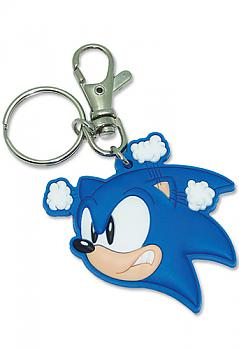 Sonic The Hedgehog Key Chain - Angry Sonic Head