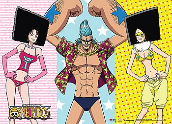 One Piece Wall Scroll - Franky, Mozu, Kiwi