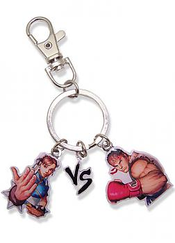 Street Fighter IV Key Chain - Chun-Li VS Ryu Potrait