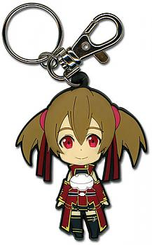 Sword Art Online Key Chain - Chibi Silica Closed Mouth Smile