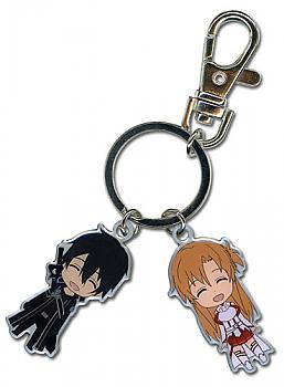 Sword Art Online Key Chain - Kirito & Asuna Metal
