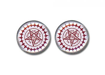 Black Butler Earrings - Pentacle