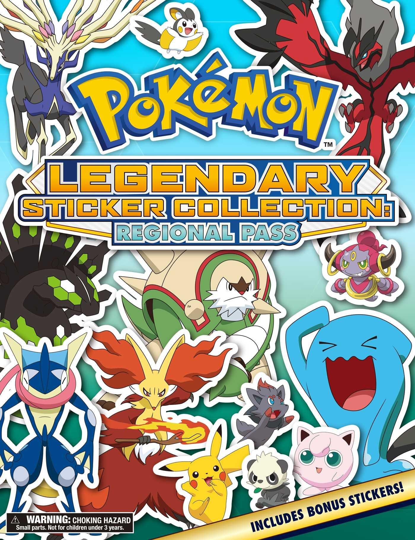 Pokemon Art Book Legendary Sticker Collection Regional