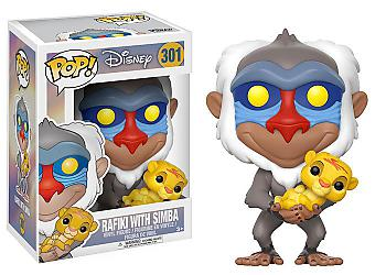 Lion King POP! Vinyl Figure - Rafiki w/ Baby Simba