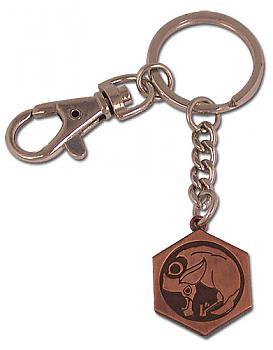 Tsubasa Key Chain - Metal Birdcage Kingdom Emblem