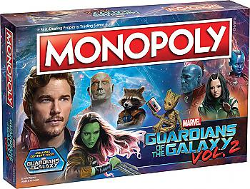 Guardians of the Galaxy Vol. 2 Board Game - Monopoly Collector's Edition