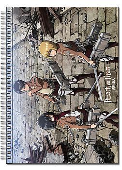 Attack on Titan Spiral Notebook - Eren, Mikasa, Armen