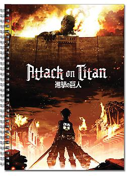 Attack on Titan Spiral Notebook - Key Art