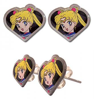 Sailor Moon Earrings - Sailor Moon Face