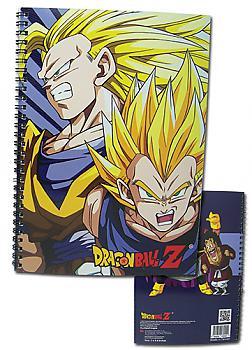Dragon Ball Z Spiral Notebook - Super Saiyan Goku & Vegeta