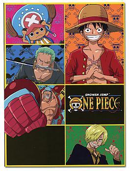 One Piece Glue Bound Notebook - Straw Hat Pirates Guys