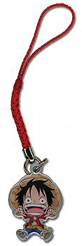 One Piece Phone Charm - Chibi Luffy Metal