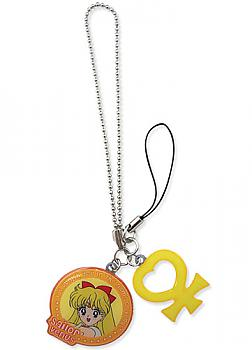 Sailor Moon Phone Charm - Sailor Venus and Symbol Metal