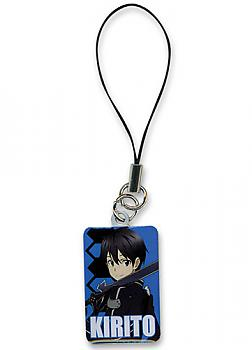 Sword Art Online Phone Charm - Kirito Portrait Metal
