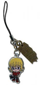 Tiger & Bunny Phone Charm - Barnaby & Logo Metal