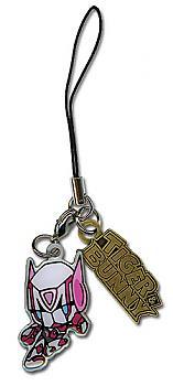 Tiger & Bunny Phone Charm - Bunny & Logo Metal