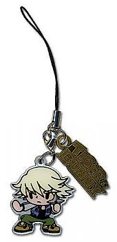 Tiger & Bunny Phone Charm - Ivan & Logo Metal